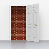 Doors Doorway Shows Overcome Problems And Barrier