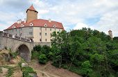 stock photo of loam  - View of the old castle Veveri - JPG