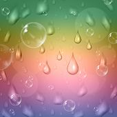 Pastel Color Means Rain Drop And Abstract