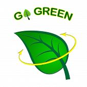 Go Green Represents Earth Day And Eco-friendly