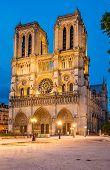 Notre Dame de Paris cathedral-night view