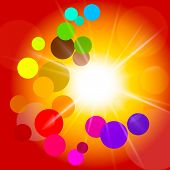 Circles Sun Indicates Light Burst And Summer