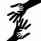Holding Hands Represents Mom Multiethnic And Parent