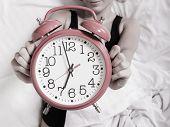 Alarm Clock With Female Hands
