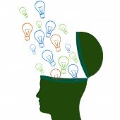 Think Idea Indicates Innovations Consideration And Creative