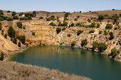 foto of copper  - An abandoned open cast Copper Mine in South Australia - JPG