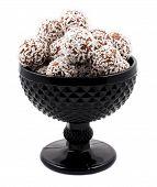 Chocolate balls candy