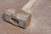 Rusty sledge hammer