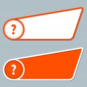 Two Orange Boxes For Any Text With Question Mark