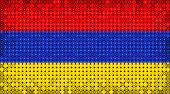 Flag Of Armenia On Led Display