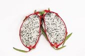 foto of dragon fruit  - Dragon fruit for dessert  in Thailand of Asia - JPG