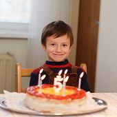 Little Kid With Cake