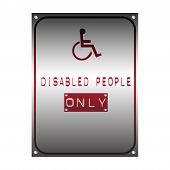 Disabled people only