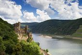 Castle Rheinstein Overlooking The Rhine Valley