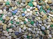 Colored stones.