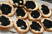 Sandwiches With Black Caviar