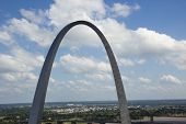 Saint Louis Arch from above