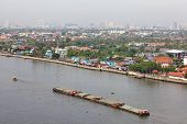 View of The Chao Phraya River is a major river in Thailand