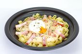 pic of carbonara  - Fresh Pasta Carbonara with ham and cheese - JPG