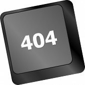 404 Code Button On Keyboard Keys