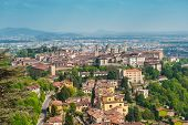 View at Old Town - Citta Alta - of Bergamo, beautiful ancient town in Lombardy, Italy