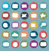 vector set of flat comics style speech bubbles icons