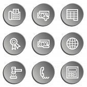 Finance web icon set 2, grey stickers set