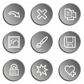 Image viewer web icon set 2, grey stickers set