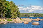 Landscape With Islands In Finland Gulf