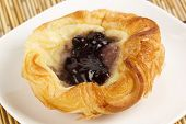 Danish Pastry With Blueberries Jam