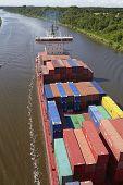 Beldorf - Container Vessel On Kiel Canal
