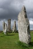 Megalithic stone circle of 3000 bc on the Isle of Lewis and Harris, Outer Hebrides, Scotland