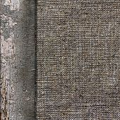 Background Of Old Wood Burlap Limited