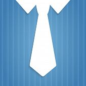 Mans pinstripe shirt tie illustration