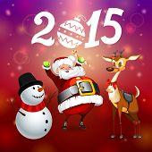 Santa Snowman And Deer