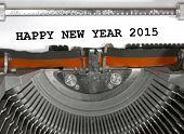 Happy New Year 2015 Typewriter