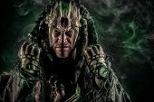 foto of shaman  - Ancient shaman warrior - JPG