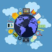 Business web applications with globe concept