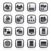 Communication and technology equipment icons
