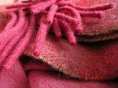 Pretty Irish wool scarf in balanced layers