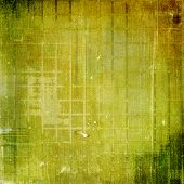 Antique vintage textured background. With different color patterns: green; brown; yellow