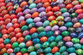 Colorful Hand Painted Easter Eggs
