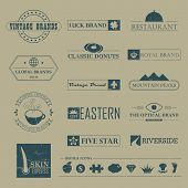 Vintage brands and logo