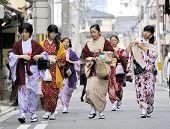 Women Wearing Japanese Kimono