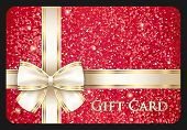 Red Glossy Gift Card With Cream Ribbon
