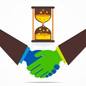 business relation or handshake business men concept vector