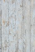 Grunge Wood Wall With Old Blue Paint