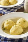 Hot Homemade Matzo Ball Soup