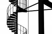 picture of spiral staircase  - Close up of spiral staircase - JPG