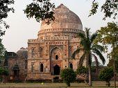 Lodi Gardens. Islamic Tomb Bara Gumbad